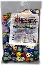 SPECIAL DICE -  CHESSEX POUND-O-DICE POLYHEDRAL