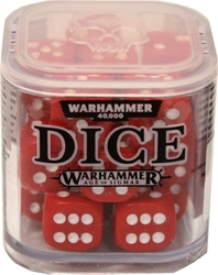 SPECIAL DICE -  WARHAMMER D6 SET (20) - RED