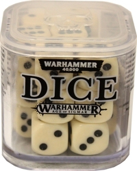 SPECIAL DICE -  WARHAMMER D6 SET (20) - WHITE