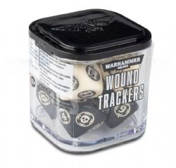 SPECIAL DICE -  WARHAMMER WOUND TRACKERS D10 (8) - BEIGE/BLACK