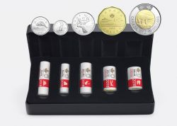 SPECIAL WRAP ROLL SETS -  FIRST STRIKES IN 2018 -  2018 CANADIAN COINS