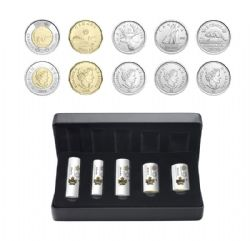 SPECIAL WRAP ROLL SETS -  FIRST STRIKES IN 2020 -  2020 CANADIAN COINS 05