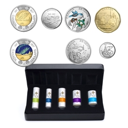 SPECIAL WRAP ROLL SETS -  MY CANADA, MY INSPIRATION - CANADA 150 -  2017 CANADIAN COINS