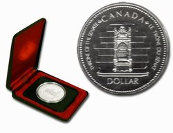 SPECIMEN DOLLARS -  25TH ANNIVERSARY QUEEN ELIZABETH II'S ACCESSION TO THE THRONE -  1977 CANADIAN COINS