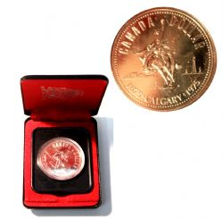 SPECIMEN DOLLARS -  CALGARY CENTENNIAL -  1975 CANADIAN COINS 05