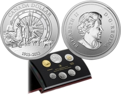 SPECIMEN SETS -  100TH ANNIVERSARY OF THE CANADIAN ARCTIC EXPEDITION -  2013 CANADIAN COINS 43