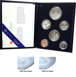SPECIMEN SETS -  1983 SPECIMEN SET - NEAR BEADS -  1983 CANADIAN COINS 03