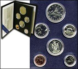 SPECIMEN SETS -  1984 SPECIMEN SET -  1984 CANADIAN COINS 04