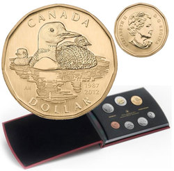 SPECIMEN SETS -  25TH ANNIVERSARY OF THE LOONIE COIN - 2012 SPECIMEN SET -  2012 CANADIAN COINS 32