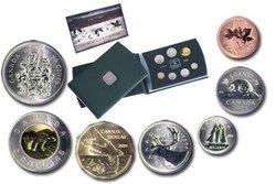 SPECIMEN SETS -  CANADA GOOSE - 2004 SPECIMEN SET -  2004 CANADIAN COINS 24
