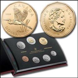 SPECIMEN SETS -  GREAT BLUE HERON - 2009 SPECIMEN SET -  2009 CANADIAN COINS 29