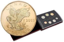 SPECIMEN SETS -  GREAT GRAY OWL - 2011 SPECIMEN SET -  2011 CANADIAN COINS 31