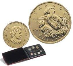 SPECIMEN SETS -  TUFTED PUFFIN - 2005 SPECIMEN SET -  2005 CANADIAN COINS 25