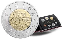 SPECIMEN SETS (YOUND WILDLIFE) -  BABY ELK - 2011 SPECIMEN SET -  2011 CANADIAN COINS 02
