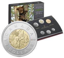 SPECIMEN SETS (YOUNG WILDLIFE) -  BLACK BEAR CUBS - 2013 SPECIMEN SET -  2013 CANADIAN COINS 04