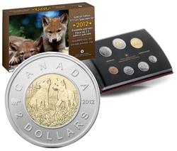 SPECIMEN SETS (YOUNG WILDLIFE) -  WOLF CUBS - 2012 SPECIMEN SET -  2012 CANADIAN COINS 03