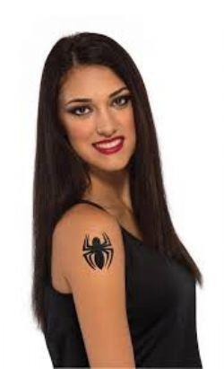 SPIDER GIRL -  STICK-ON GLITTER TATTOO