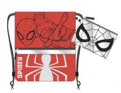 SPIDER-MAN -  DRAWSTRING RED SLING BAG