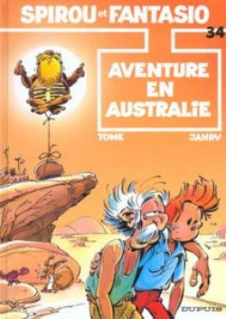 SPIROU AND FANTASIO -  USED BOOK - AVENTURE EN AUSTRALIE (FRENCH) 34