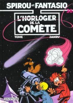 SPIROU AND FANTASIO -  USED BOOK - L'HORLOGER DE LA COMETE (FRENCH) 36