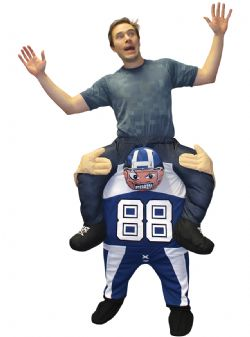 SPORT -  PIGGYBACK AMERICAN FOOTBALL PLAYER COSTUME (ADULT)