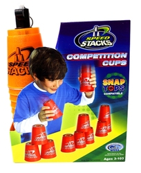SPORT STACKING -  CUP STACKING COMPETITION CUPS (12) - METALLIC ORANGE