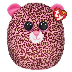 SQUISH A BOOS -  LAINEY THE PINK AND GREEN LEOPARD (12