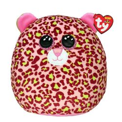 SQUISH A BOOS -  LAINEY THE PINK AND GREEN LEOPARD (8
