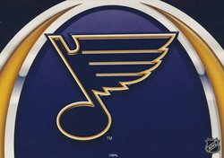 ST. LOUIS BLUES -  GREETING CARD