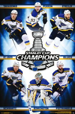 ST. LOUIS BLUES -  STANLEY CUP CHAMPIONS POSTER (22