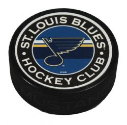 ST-LOUIS BLUES -  STRIPED TEXTURED ACRYLIC HOCKEY PUCK