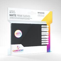 STANDARD CARD GAME -  BLACK - MATTE PRIME SLEEVES (66MM X 91MM) (100) -  GAMEGENIC
