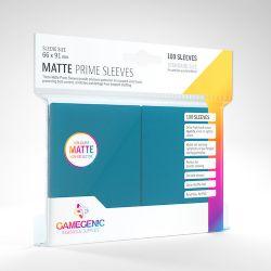 STANDARD CARD GAME -  BLUE - MATTE PRIME SLEEVES (66MM X 91MM) (100) -  GAMEGENIC