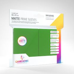 STANDARD CARD GAME -  GREEN - MATTE PRIME SLEEVES (66MM X 91MM) (100) -  GAMEGENIC