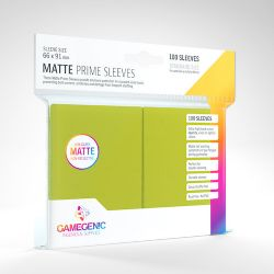 STANDARD CARD GAME -  LIME GREEN - MATTE PRIME SLEEVES (66MM X 91MM) (100) -  GAMEGENIC