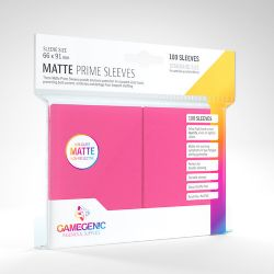 STANDARD CARD GAME -  PINK - MATTE PRIME SLEEVES (66MM X 91MM) (100) -  GAMEGENIC