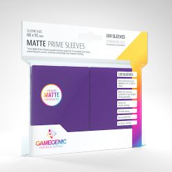 STANDARD CARD GAME -  PURPLE - MATTE PRIME SLEEVES (66MM X 91MM) (100) -  GAMEGENIC