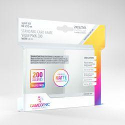STANDARD CARD GAME -  VALUE PACK MATTE (66MM X 91MM) (200) -  GAMEGENIC