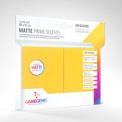 STANDARD CARD GAME -  YELLOW - MATTE PRIME SLEEVES (66MM X 91MM) (100) -  GAMEGENIC