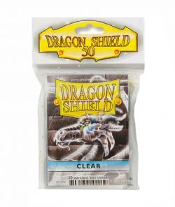 STANDARD SIZE SLEEVES -  50 DRAGON SHIELDS - CLEAR