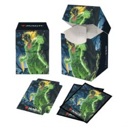 STANDARD SIZE SLEEVES AND DECK BOX -  MTG - 100/100 - ZENDIKAR RISING - OBUUN - WITH A DIVIDER