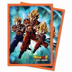 STANDARD SIZE SLEEVES -  DRAGON BALLS DP (SUPER SAIYAN GOKU,GOHAN,GOTEN)(65) -  DRAGON BALL SUPER