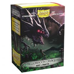 STANDARD SIZE SLEEVES -  DRAGON SHIELDS - 100 - MATTE HALLOWEEN
