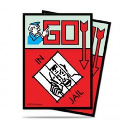 STANDARD SIZE SLEEVES -  MONOPOLY GO IN JAIL (100)