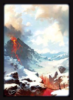 STANDARD SIZE SLEEVES -  MTG - 2018 MOUNTAIN (50)