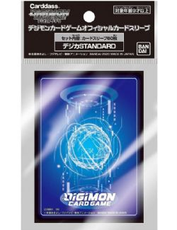 STANDARD SIZE SLEEVES -  OFFICIAL SLEEVE- 60 - STANDARD -  DIGIMON TCG