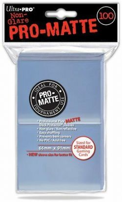 STANDARD SIZE SLEEVES -  PRO-MATTE NON-GLARE CLEAR (100)