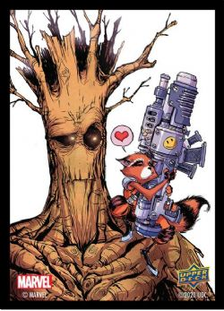 STANDARD SIZE SLEEVES -  ROCKET AND GROOT (65) -  MARVEL