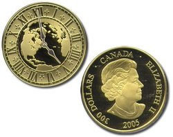 STANDARD TIME -  MOUNTAIN TIME (5:00) -  2005 CANADIAN COINS