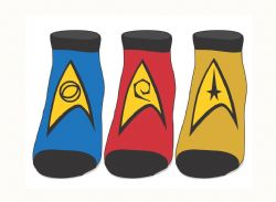STAR TREK -  3 PAIR ANKLE SOCKS - (10-13)